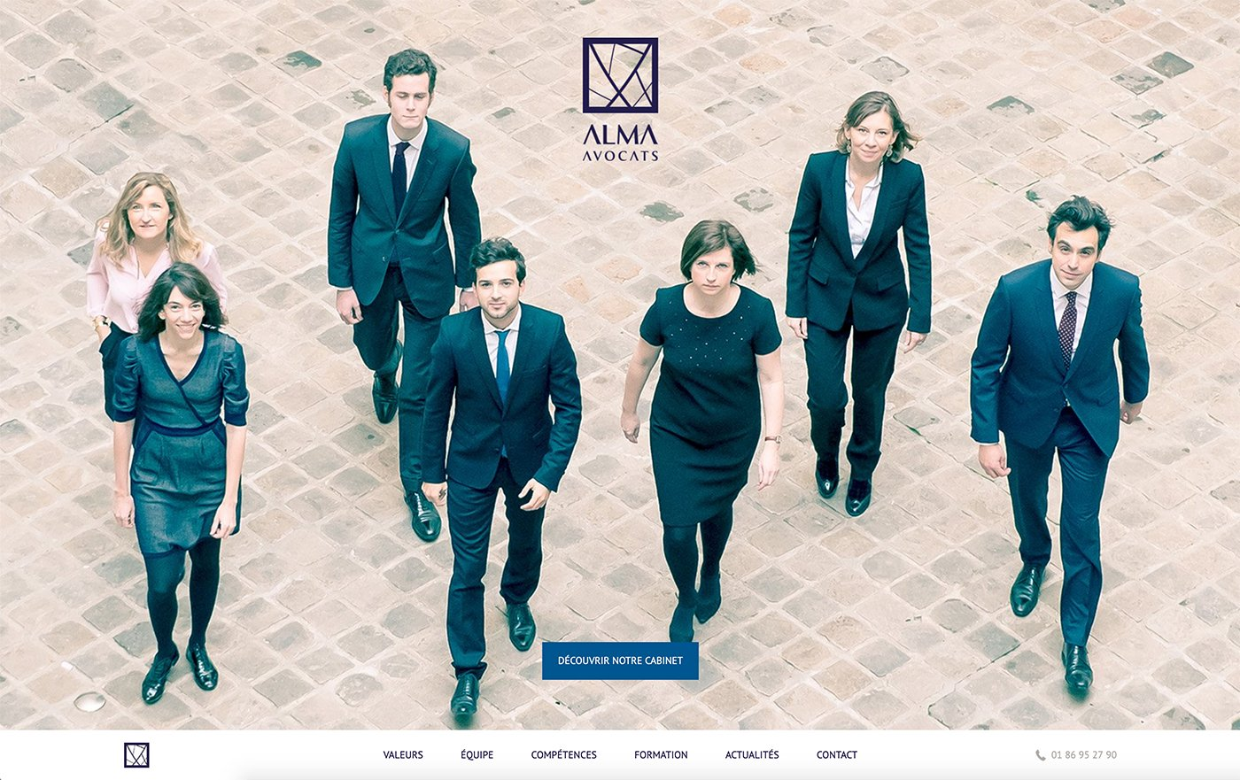 Capture du site internet Alma Avocats