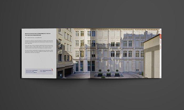 Pages intérieures, présentation d'un projet