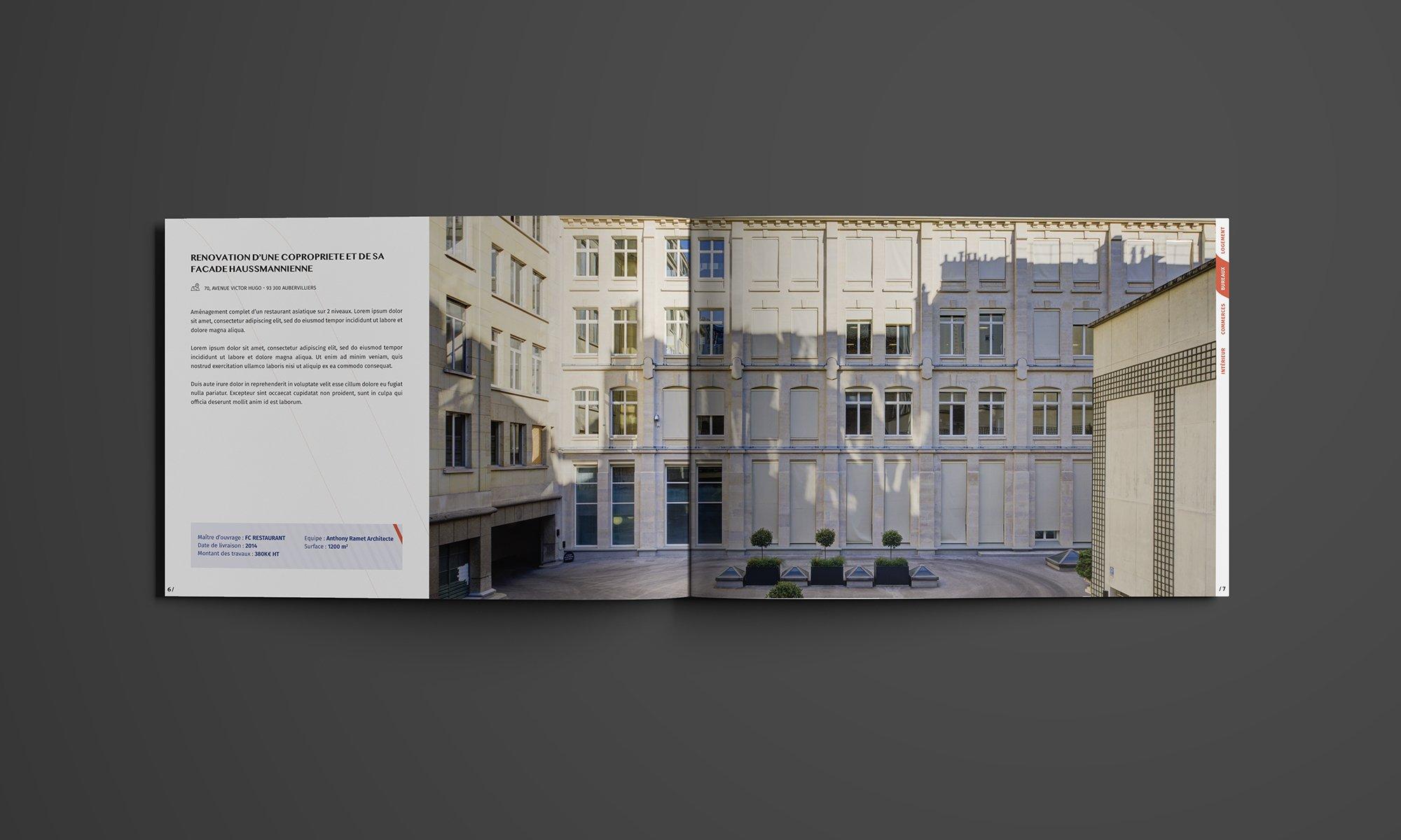 Book Architecte D Intérieur conception du book d'un architecte - graphiste indépendant