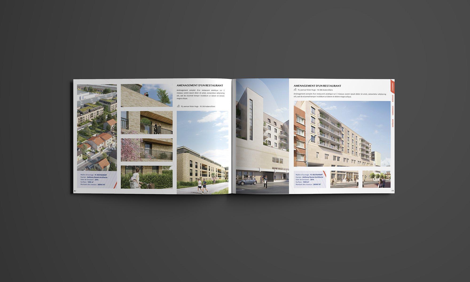 Plaquette de présentation d'un architecte