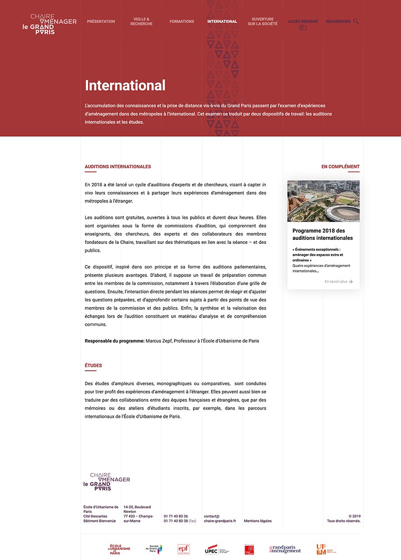 Captude la page international
