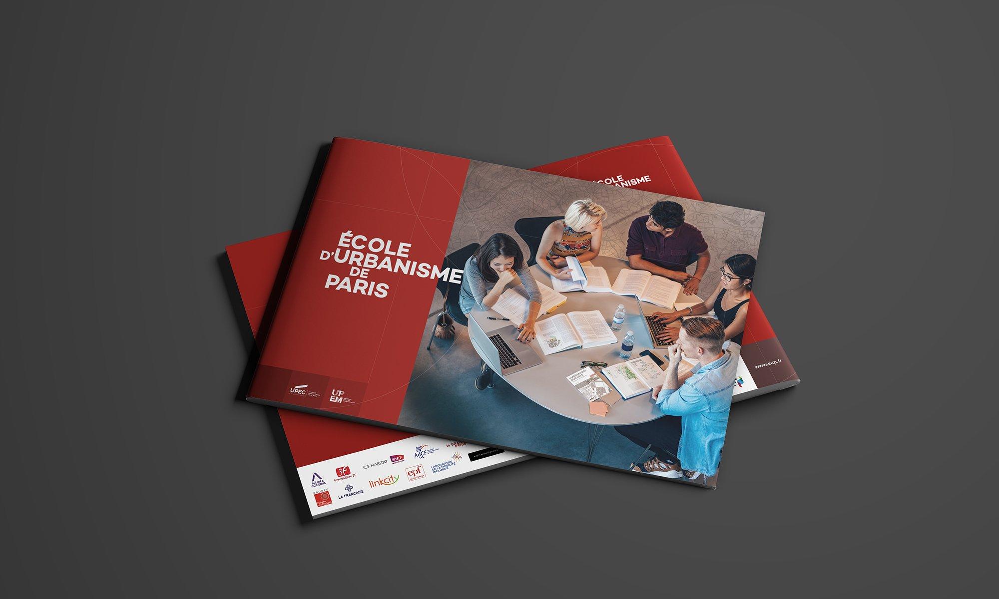 Couvertures de la plaquette de présentation de l'EUP