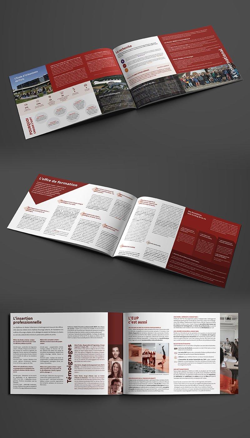 Pages intérieures de la plaquette EUP