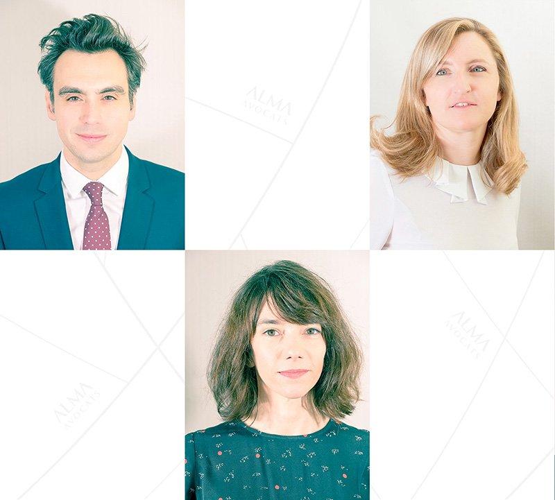 Portraits de l'équipe d'avocats