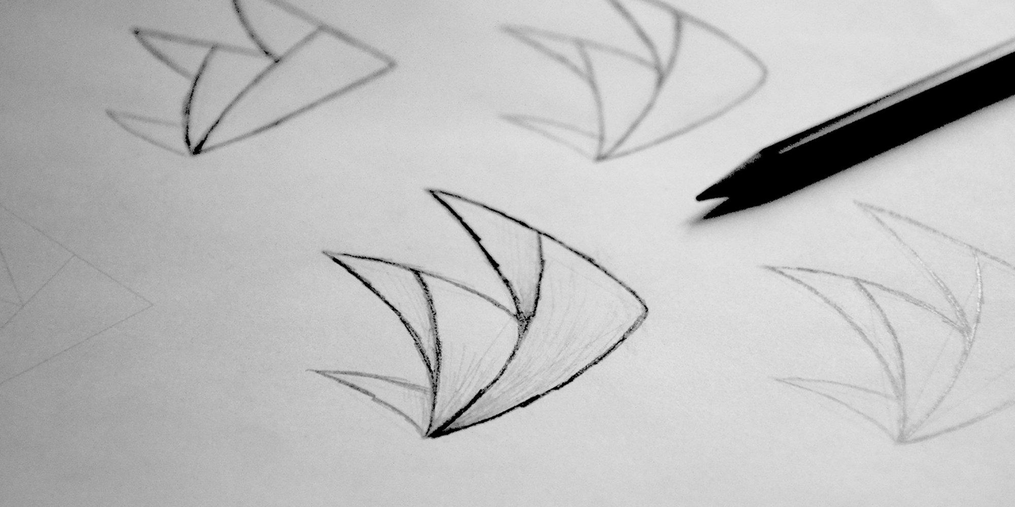 Recherches graphiques pour la création du logo