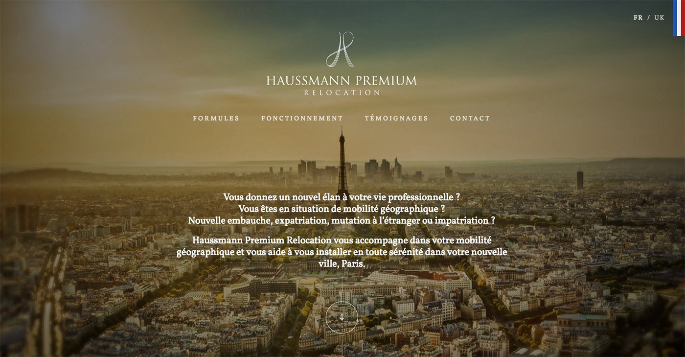Capture du site internet Haussmann Premium Relocation