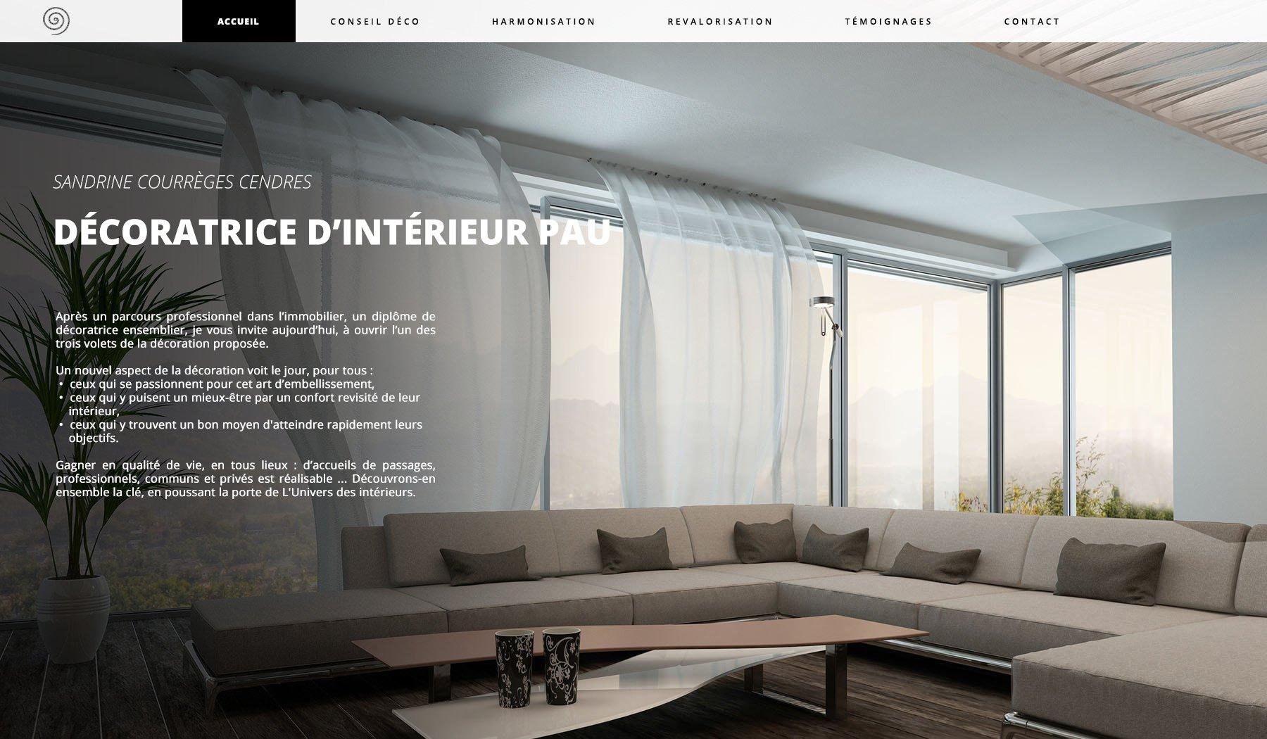 Capture du site internet Univers des intérieurs