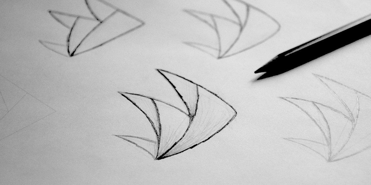 Croquis / esquisse d'un logo