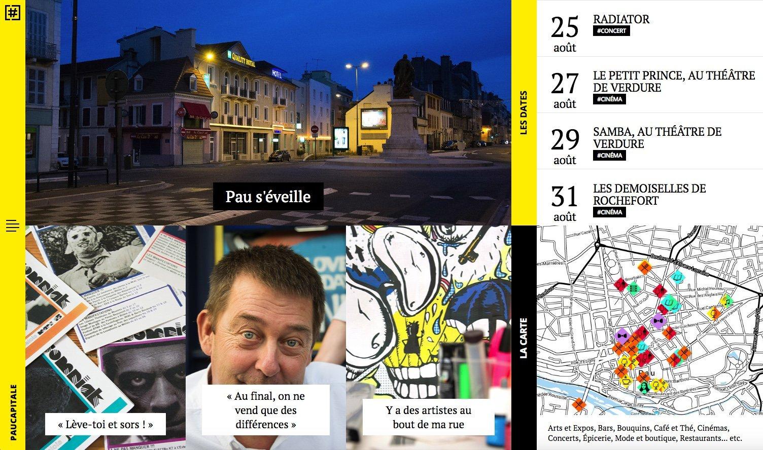 Capture du site internet PauCapitale