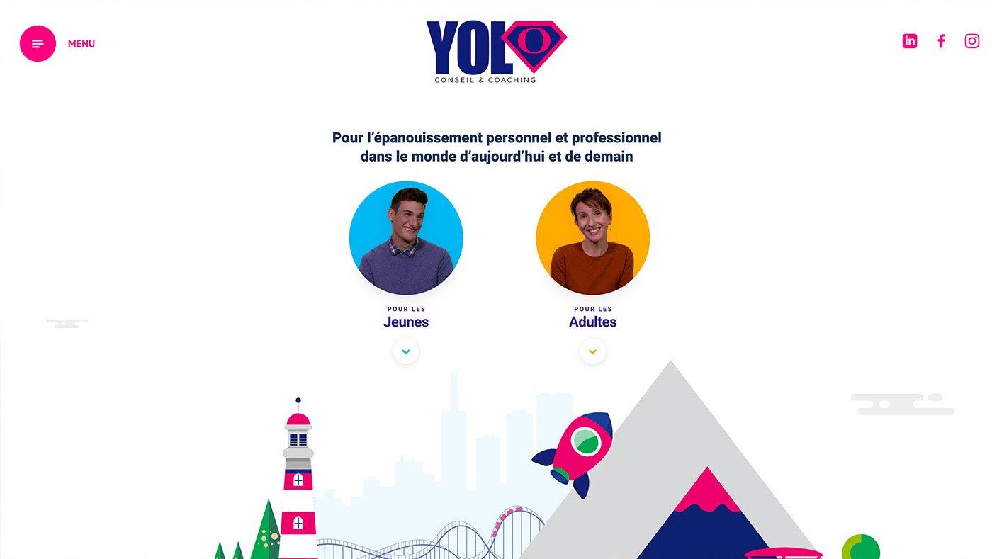 Capture du site internet YOLO